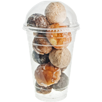 Doughnut holes in Solo® Ultra Clear™ Cold Cup